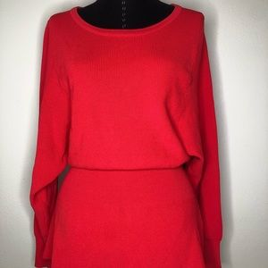 Red knit top by Zara